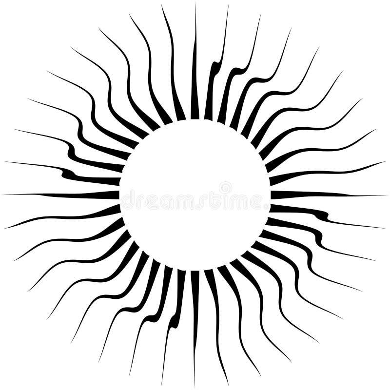 Éclatement des lignes radiales Rayons tordus, illustrati abstrait de faisceaux illustration de vecteur