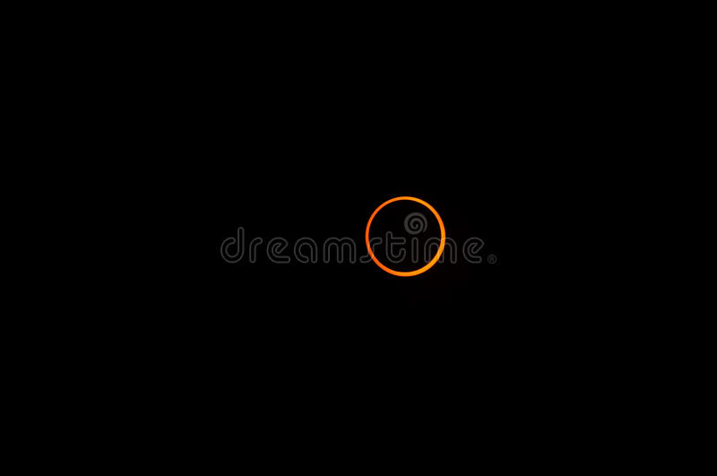 Éclipse 2010 de boucle image libre de droits