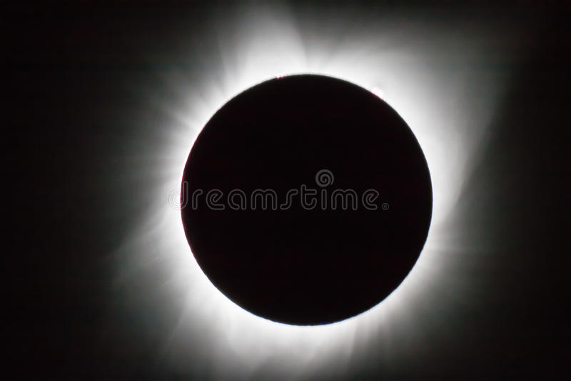Éclipse 2017 photos stock