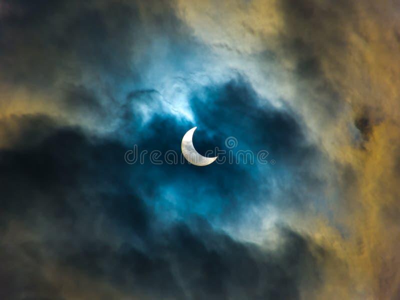 Éclipse annulaire photos libres de droits