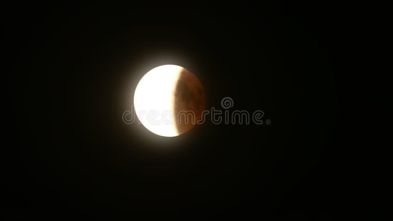 Éclipse de la lune photographie stock libre de droits