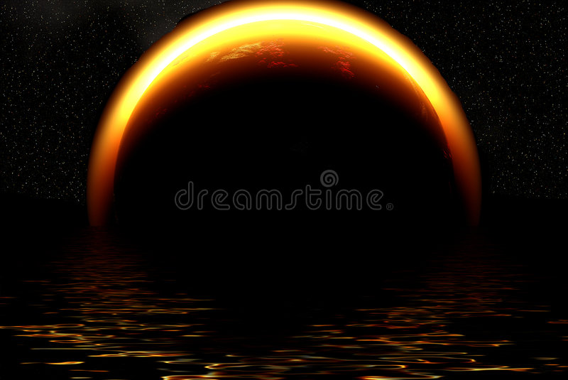 Éclipse de Sun illustration stock