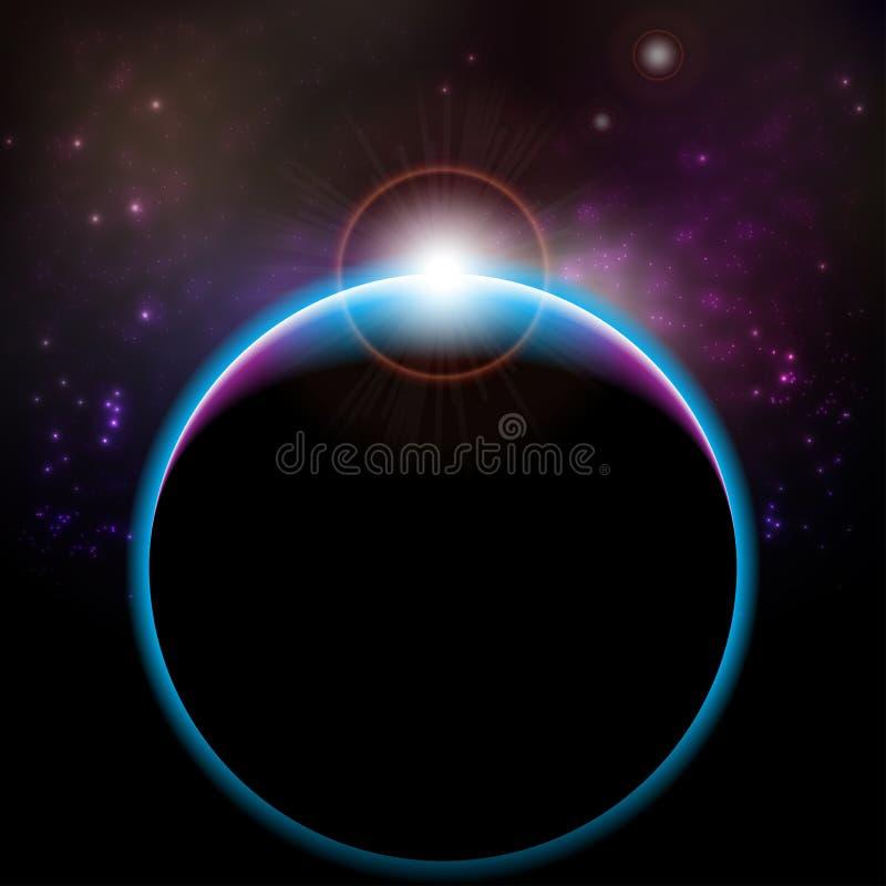 Éclipse de vecteur illustration libre de droits