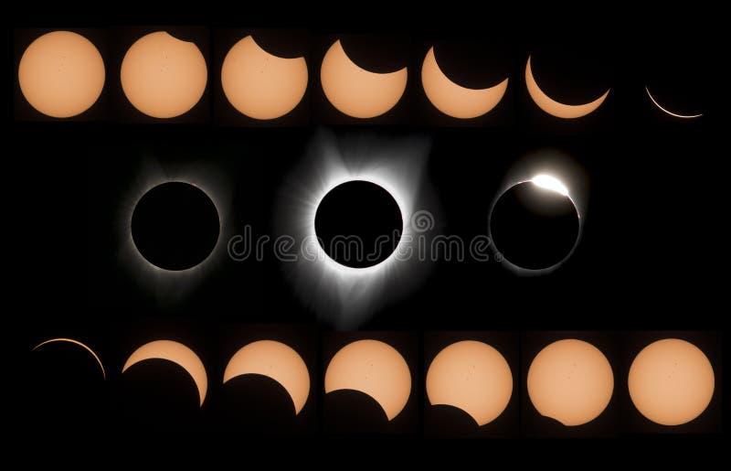 Éclipse du soleil images stock