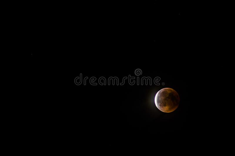 Éclipse lunaire 2018 images stock
