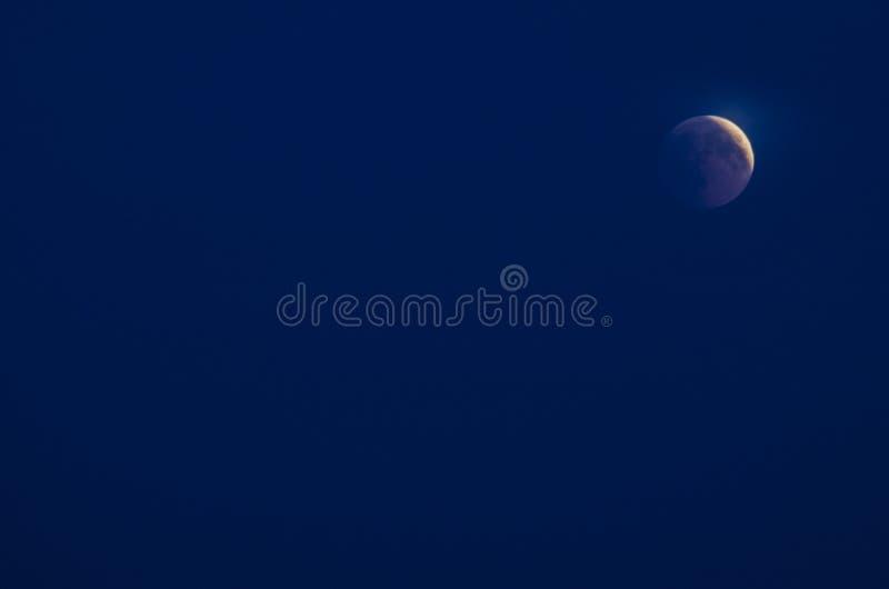 Éclipse lunaire 2018 photographie stock