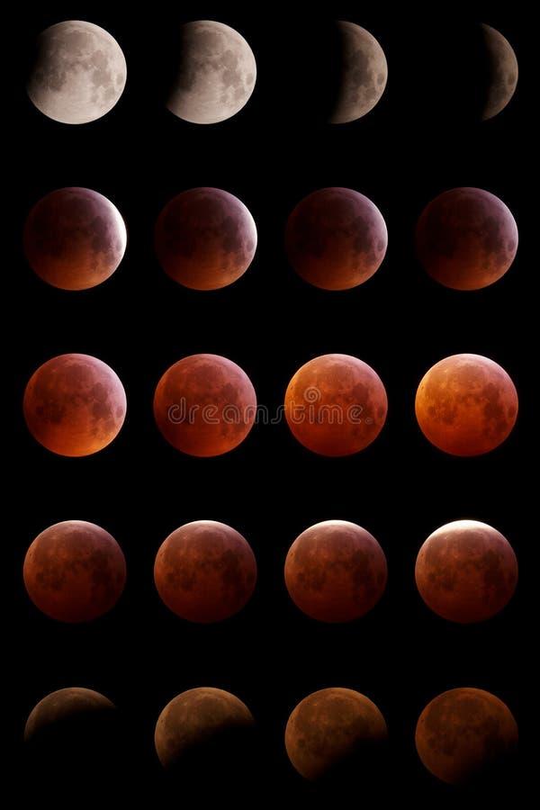 Éclipse lunaire 2019 photographie stock libre de droits