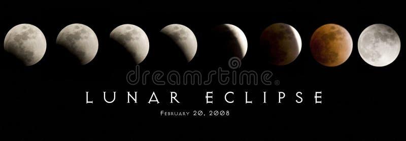 Éclipse lunaire 2008 photographie stock