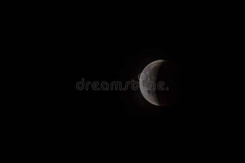 Éclipse lunaire sur 27 7 2018 à Vienne, l'Autriche photographie stock libre de droits