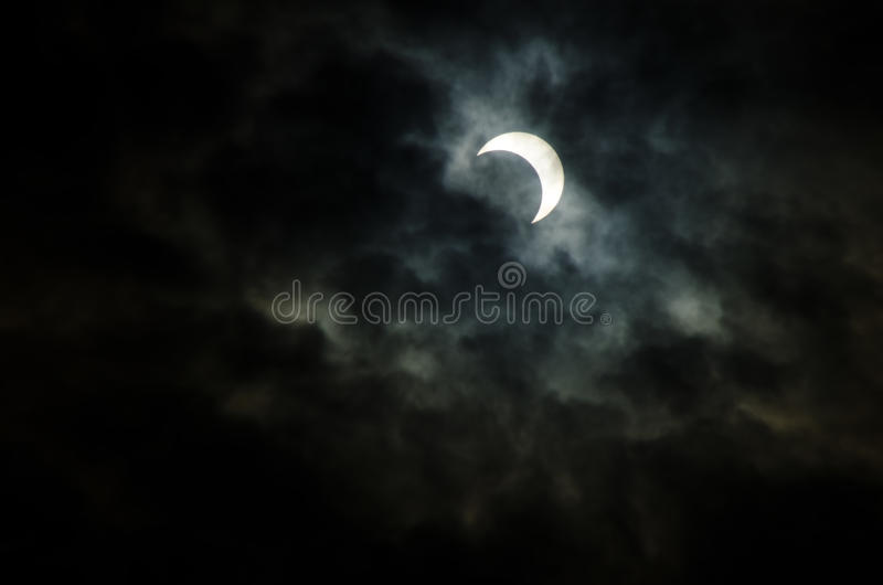 Éclipse solaire annulaire, Japon, 2012 photos stock