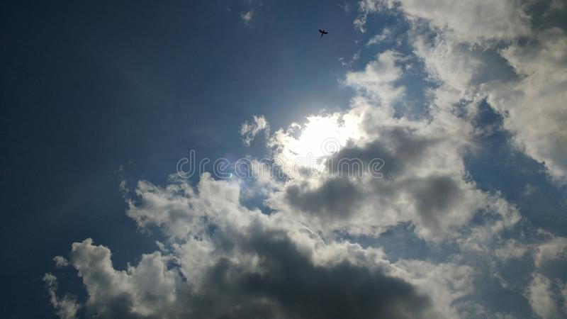 Éclipse solaire Greenbrier Co Wv photos libres de droits