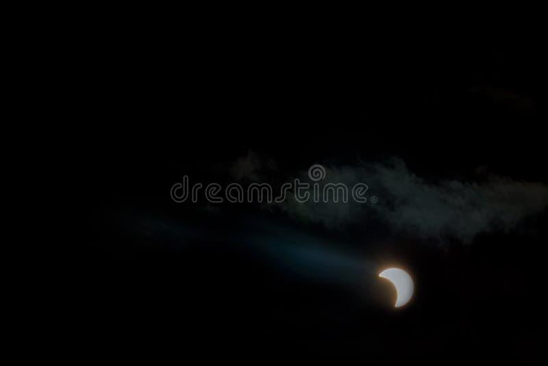 Éclipse solaire, New York NY le 21 août 2017 photo libre de droits