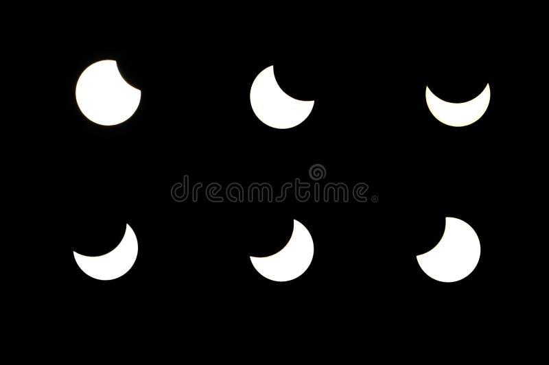 Éclipse solaire partielle photos stock