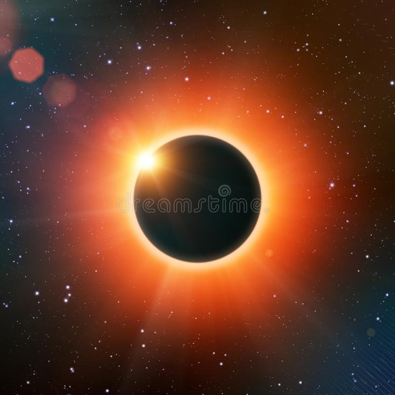 Éclipse solaire totale illustration stock
