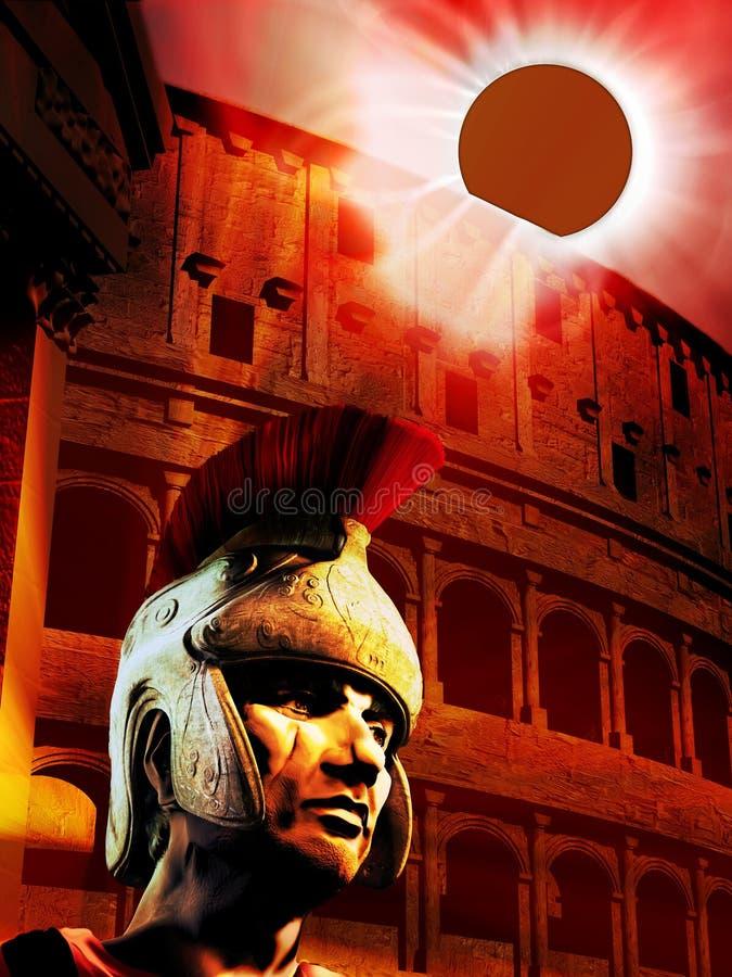 Éclipse sur l'empire romain illustration de vecteur
