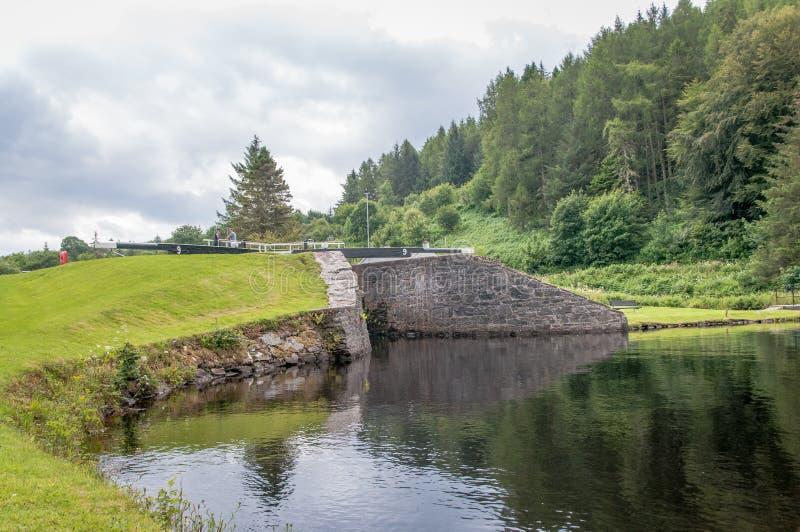 Écluse de Crinan, Écosse photo libre de droits