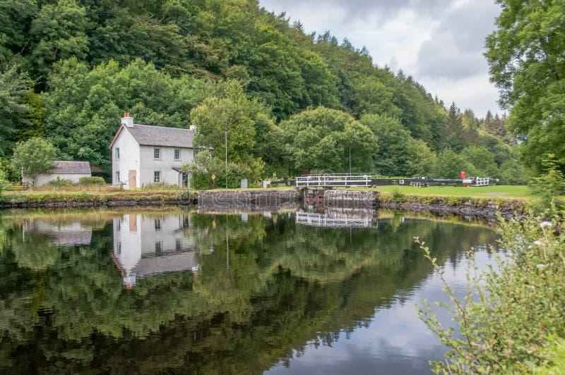 Écluse de Crinan, Écosse image libre de droits