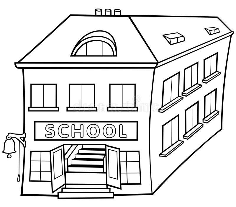 École illustration de vecteur