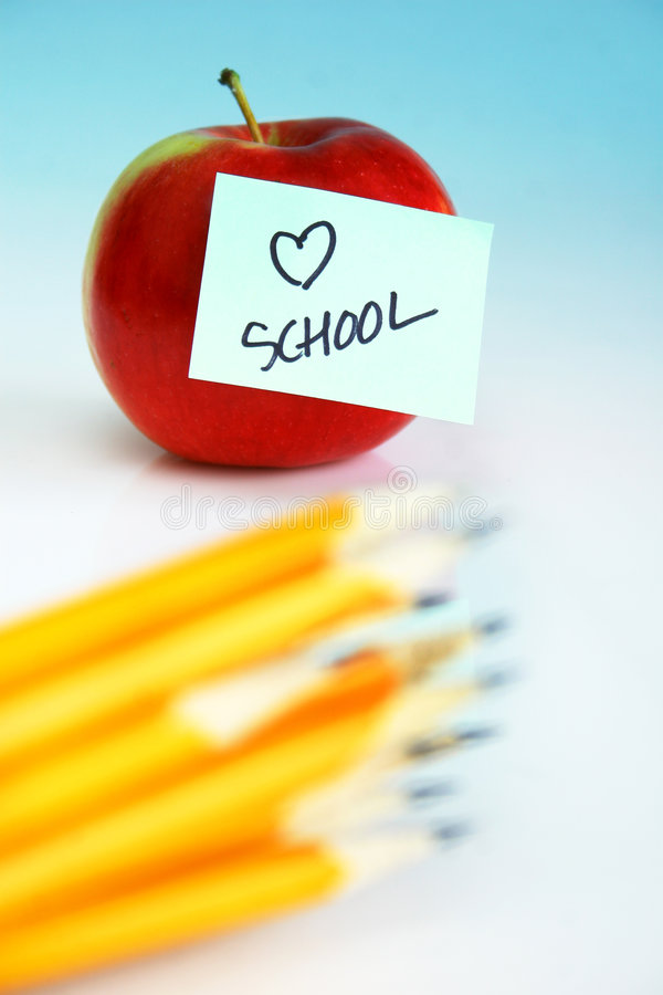 École d'amour images libres de droits