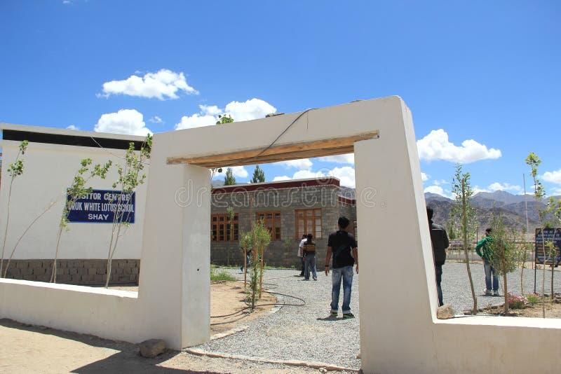 École de Druk Lotus blanc photographie stock libre de droits