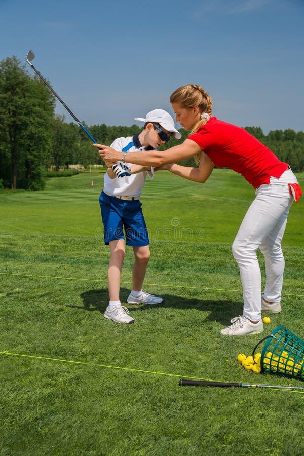 École de golf image stock