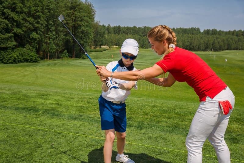 École de golf images libres de droits