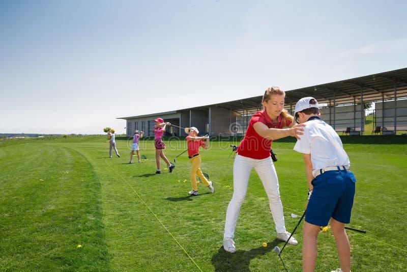 École de golf image libre de droits