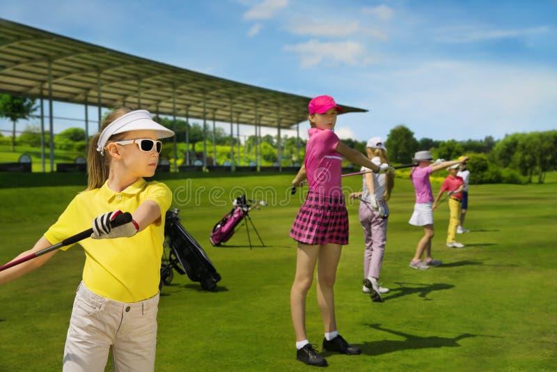 École de golf d'enfants photos libres de droits