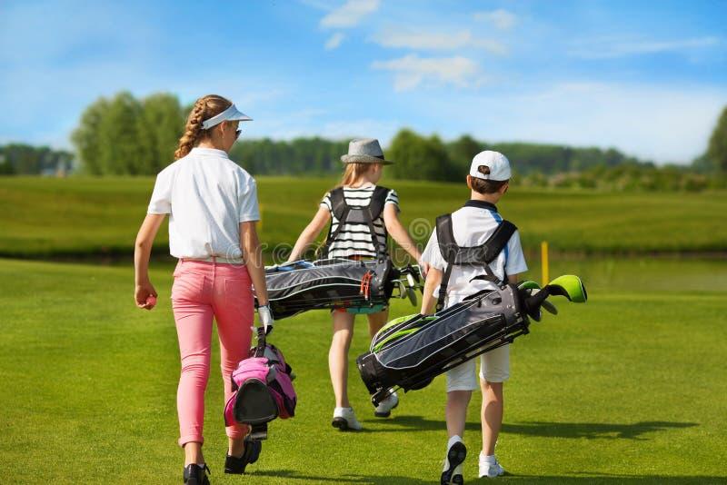 École de golf d'enfants photos stock