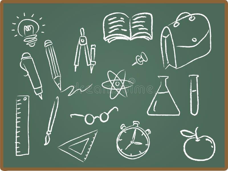 école de graphismes de tableau illustration libre de droits