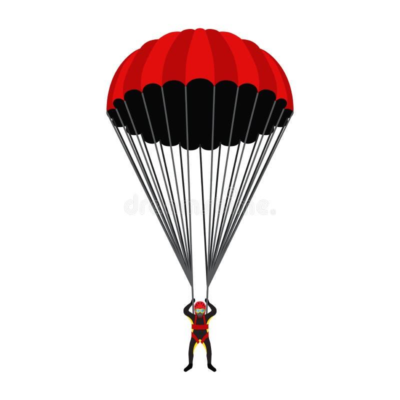 École de parachutisme, illustration d'académie Parachutiste, sport extrême illustration libre de droits