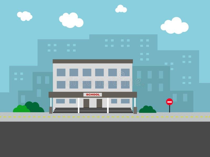 École de paysage illustration libre de droits