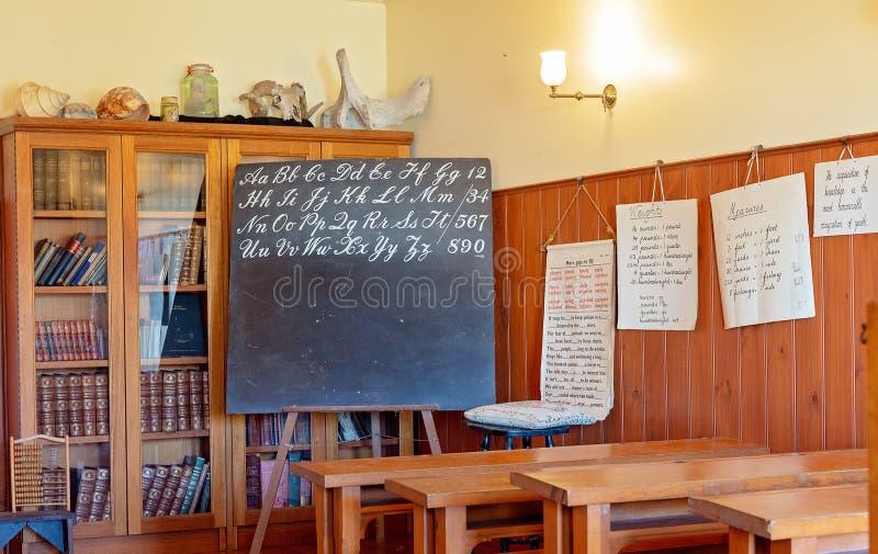 École de village au musée maritime Australie de colline de hampe de drapeaux images stock
