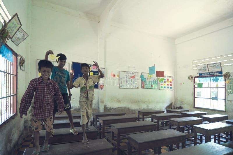 école du Cambodge photo stock