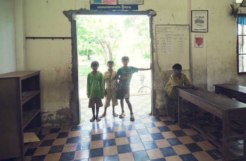 école du Cambodge images libres de droits