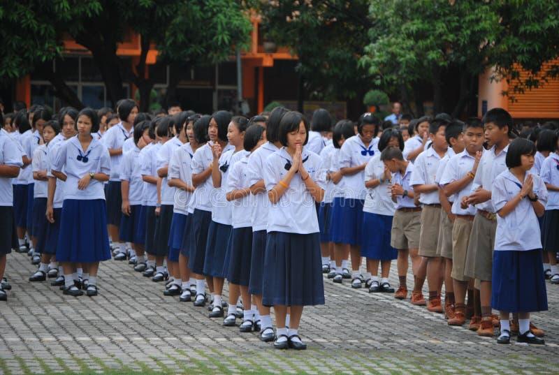 École en Thaïlande photo libre de droits