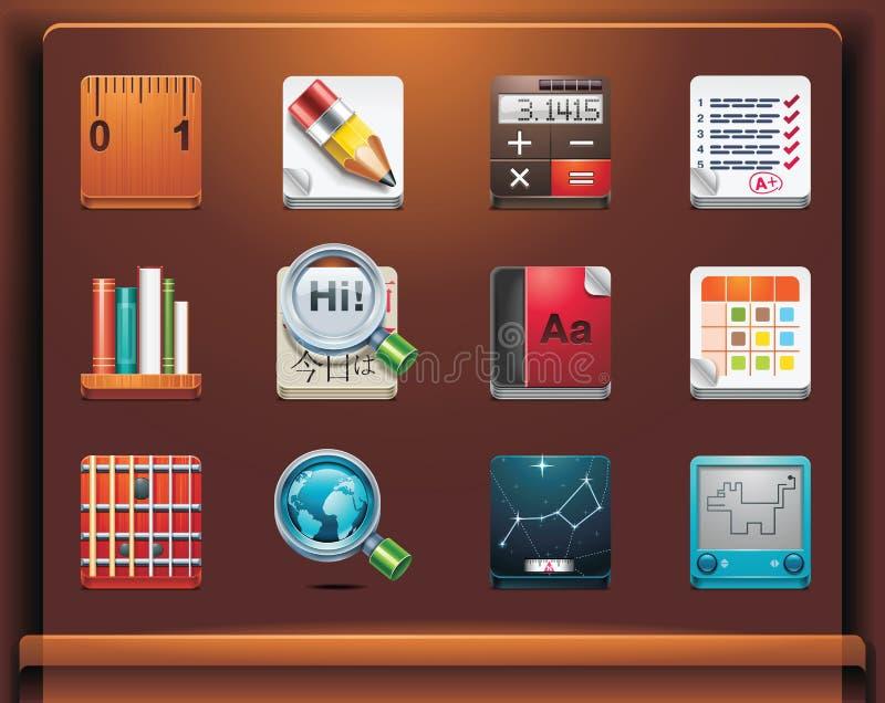 École et apps éducatifs illustration stock