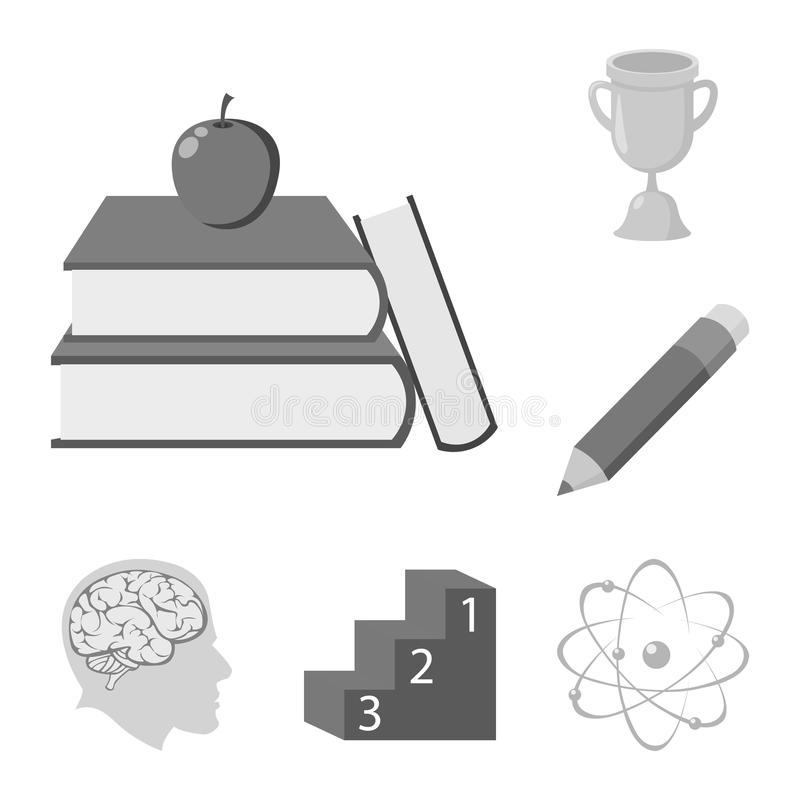 École et icônes monochromes d'éducation dans la collection d'ensemble pour la conception Symbole de vecteur d'université, d'équip illustration stock
