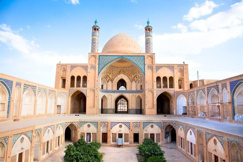 École et mosquée d'Agha Bozorgi dans Kashan image stock