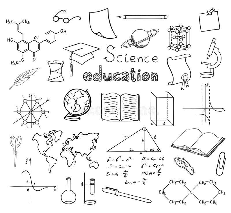 École et symboles d'éducation illustration libre de droits