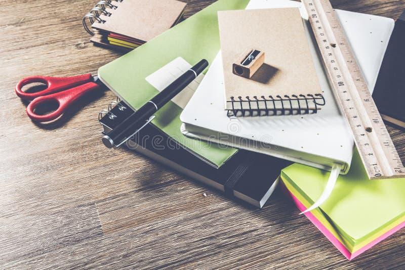 École ou concept d'affaires avec l'ordre du jour photographie stock