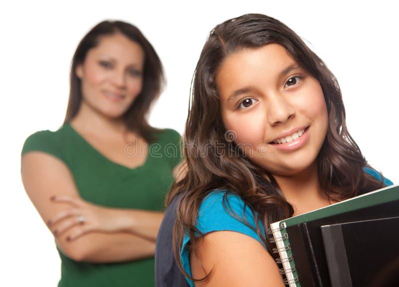 école prête de mère hispanique de descendant photographie stock