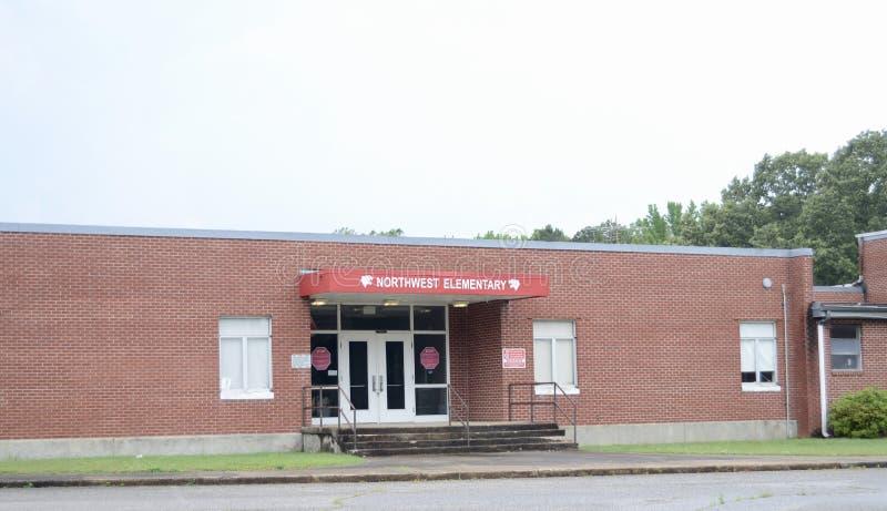 École primaire du nord-ouest, maçon, TN photographie stock