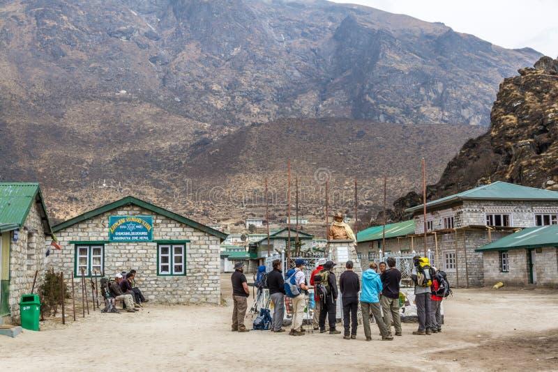 École secondaire de Khumjung photos libres de droits