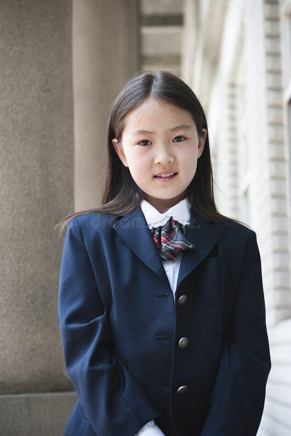Écolière élémentaire asiatique images libres de droits