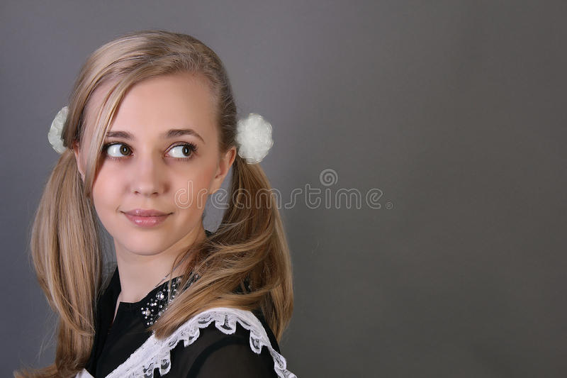 Écolière photographie stock libre de droits