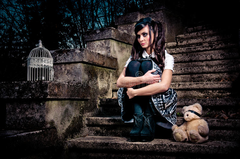 Écolière de Lolita photographie stock libre de droits