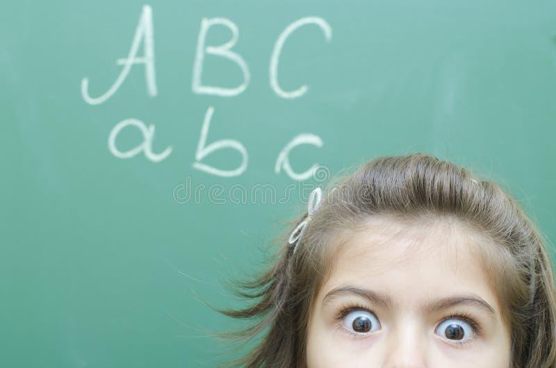 Écolière effrayée photographie stock libre de droits