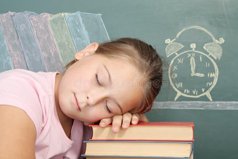 écolière fatiguée photo libre de droits