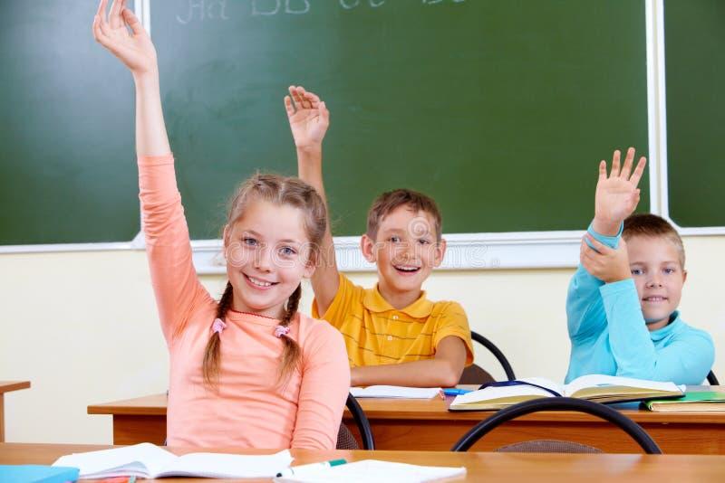 Écolière mignonne photos stock